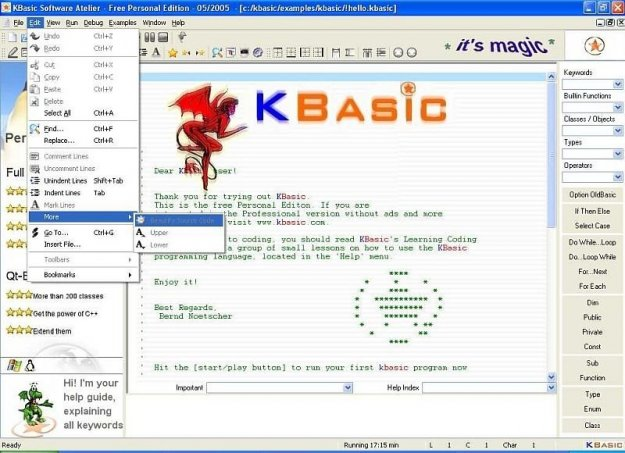 Basic For Qt (ehemals KBasic)