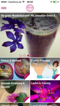 Being Fit Is Fun - App für iPhone, iPad & Android