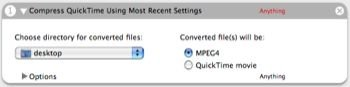 Compress QuickTime Using Most Recent Settings