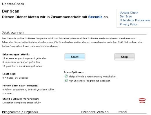heise Security Update-Check