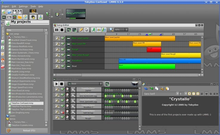 Linux MultiMedia Studio (LMMS)