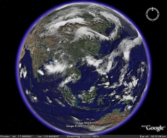 Live Global Clouds for Google Earth