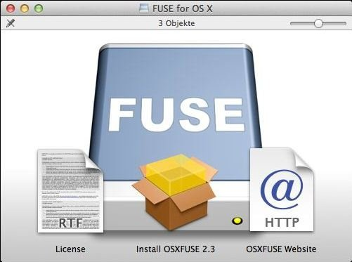 OSXFUSE (FUSE for OS X)