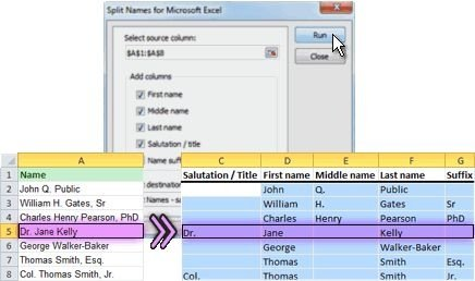 Split Names For Microsoft Excel Heise Download