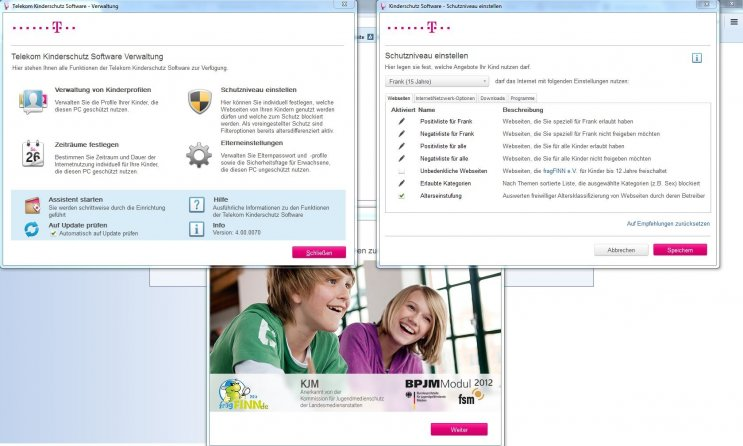 Telekom Kinderschutz Software