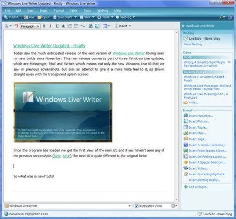 Windows Live Writer (WLW)