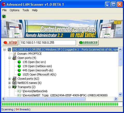 Advanced LAN Scanner