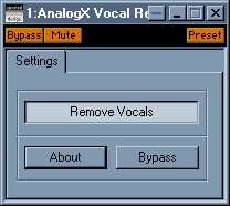 AnalogX Vocal Remover