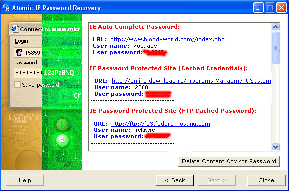 Atomic IE Password Recovery
