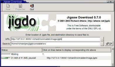 jigdo (Jigsaw Download)