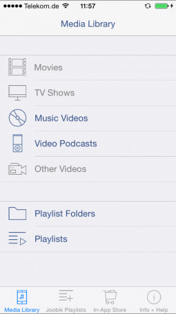 Joobik Player - iTunes Video Playlists