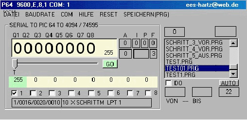 LCD - LPT Testsoftware