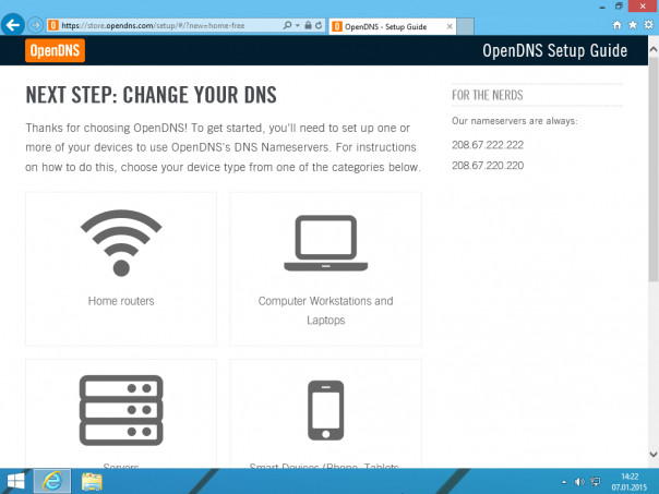 OpenDNS Parental Controls