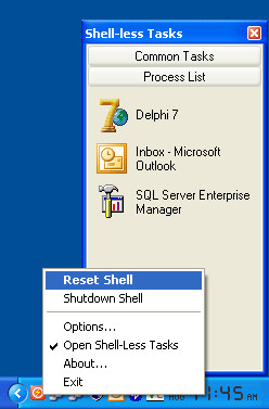 Shell Reset