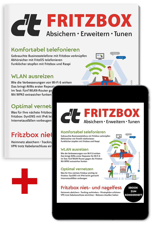 Bundle c't Fritzbox 2021 (Heft + PDF)