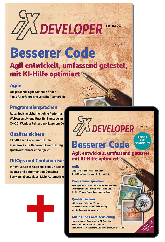 Bundle iX Developer Besserer Code (Heft + PDF)