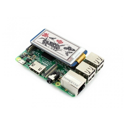 """2.13"""" 212x104 ePaper Display HAT für Raspberry Pi, dreifarbig (rot, schwarz, weiß)"""