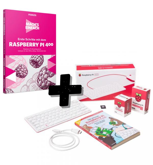 Bundle: Raspberry Pi 400 + Erste Schritte-Fachbuch
