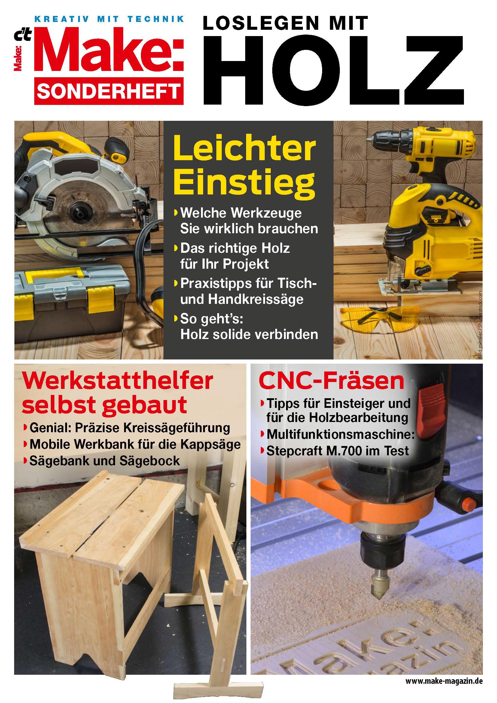 Make Sonderheft 2020 - Loslegen mit Holz