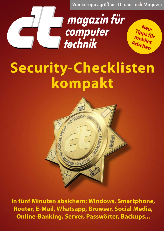 Booklet c't Security-Checkliste 2022