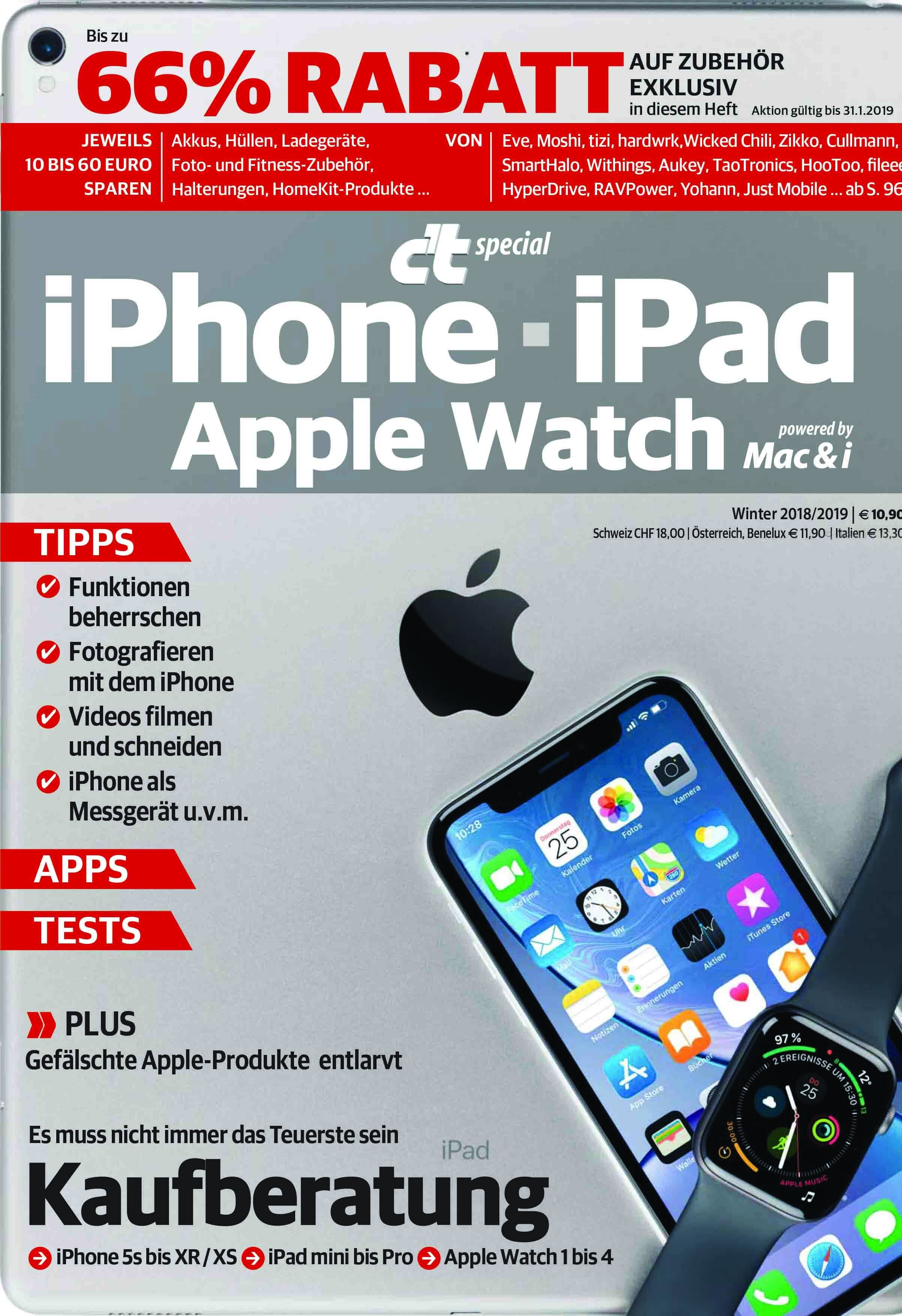 c't special iPhone - iPad - Apple Watch