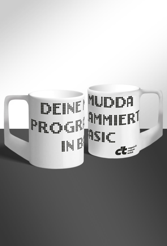 """Tasse """"Deine Mudda programmiert in Basic"""""""