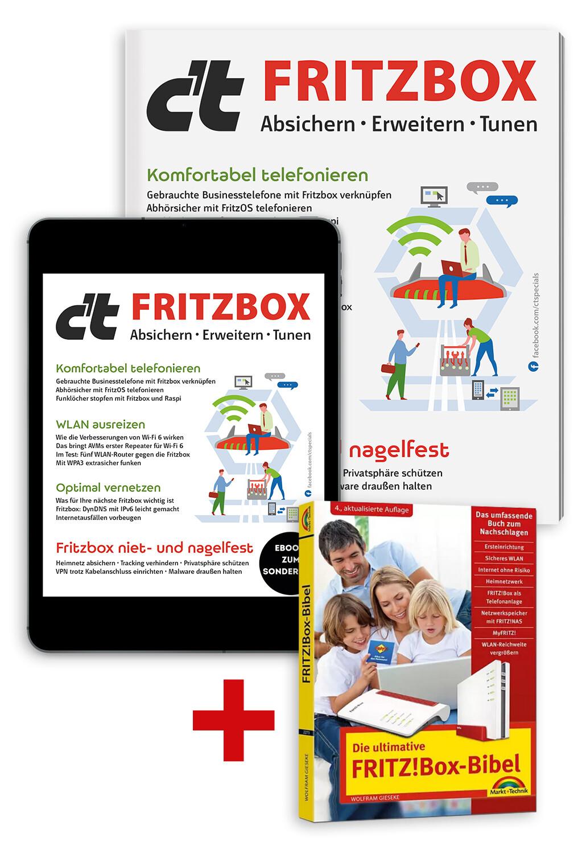 Superbundle c't Fritzbox 2021 (Buch + Heft + PDF)