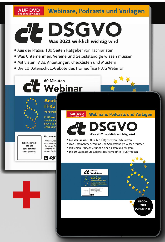 Bundle c't DSGVO 2021 (Heft + PDF)