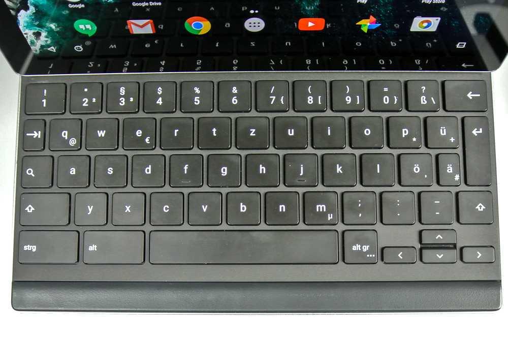 Layout der deutschen Pixel-C-Tastatur