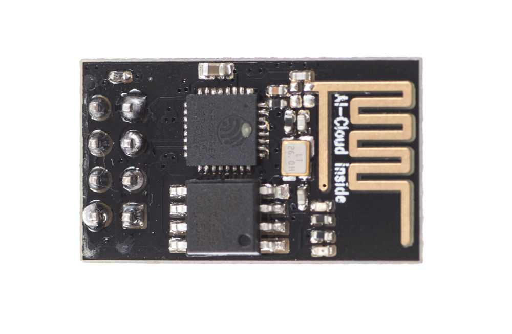 Für die Kommunikation der Wetterstation kommt ein ESP-01 aus der Produktfamile ESP8266 zum Einsatz