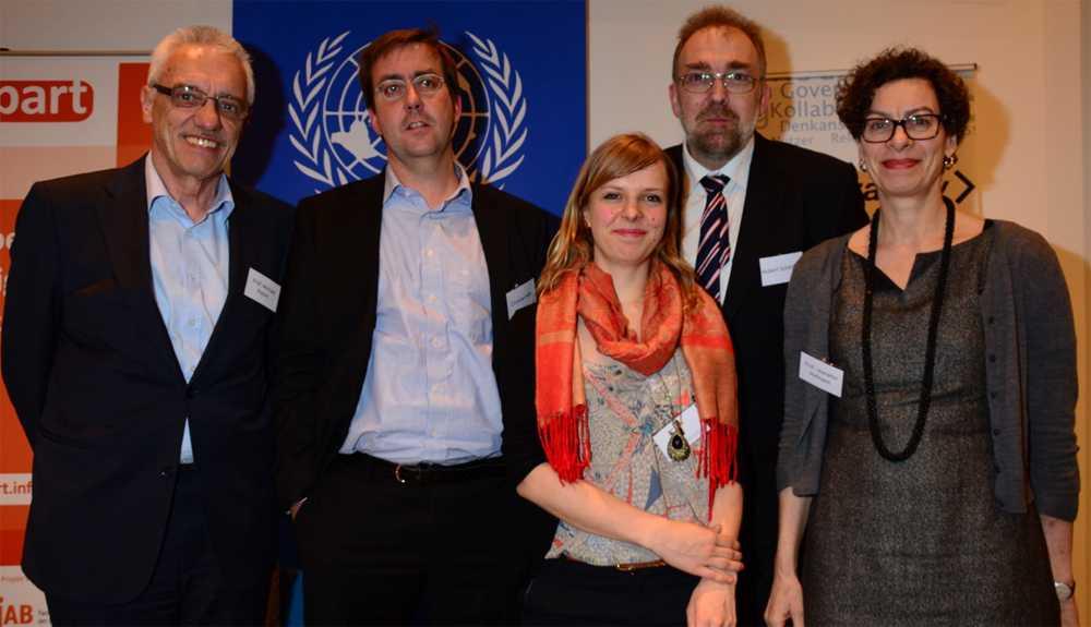 Michael Rotert, Christian Mihr, Heidi Fritze, Hubert Schöttner, Jeanette Hofmann (v.l.)