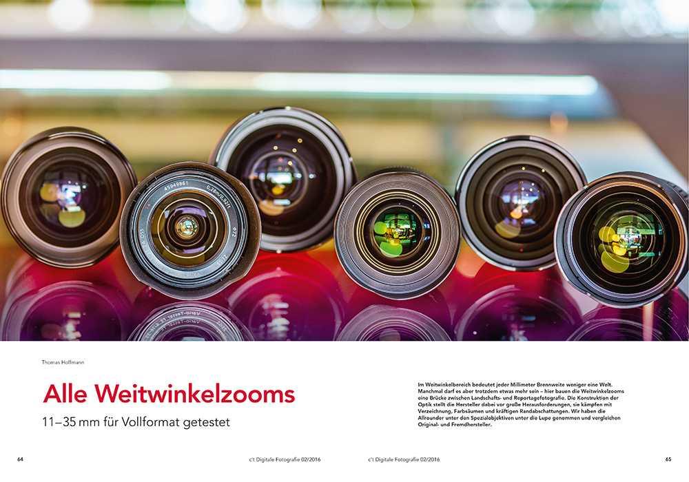 Neue c\'t Fotografie: Alle Weitwinkelzooms 11–35 mm für Vollformat ...