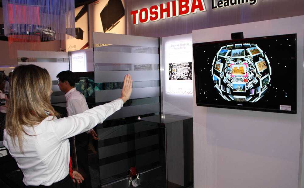 Gestensteuerung Toshiba
