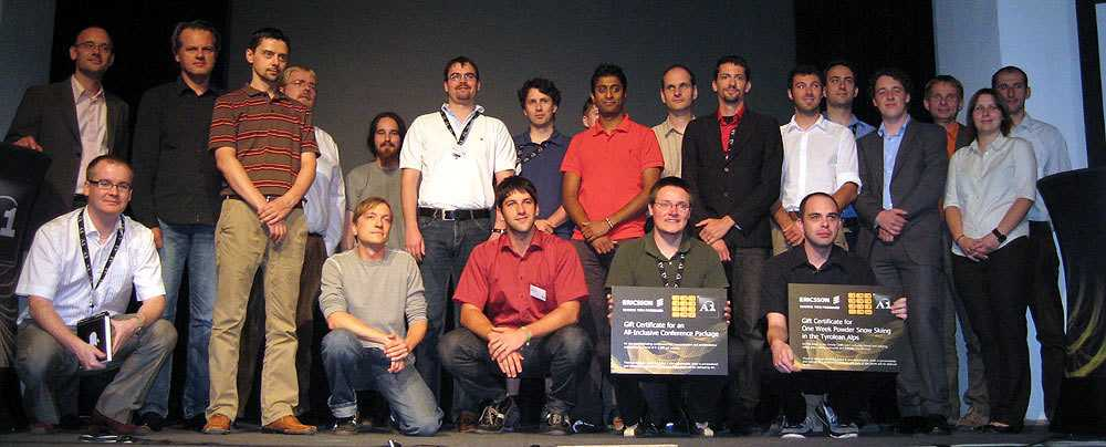 """Die Teilnehmer der """"A1 InnovationDays""""."""