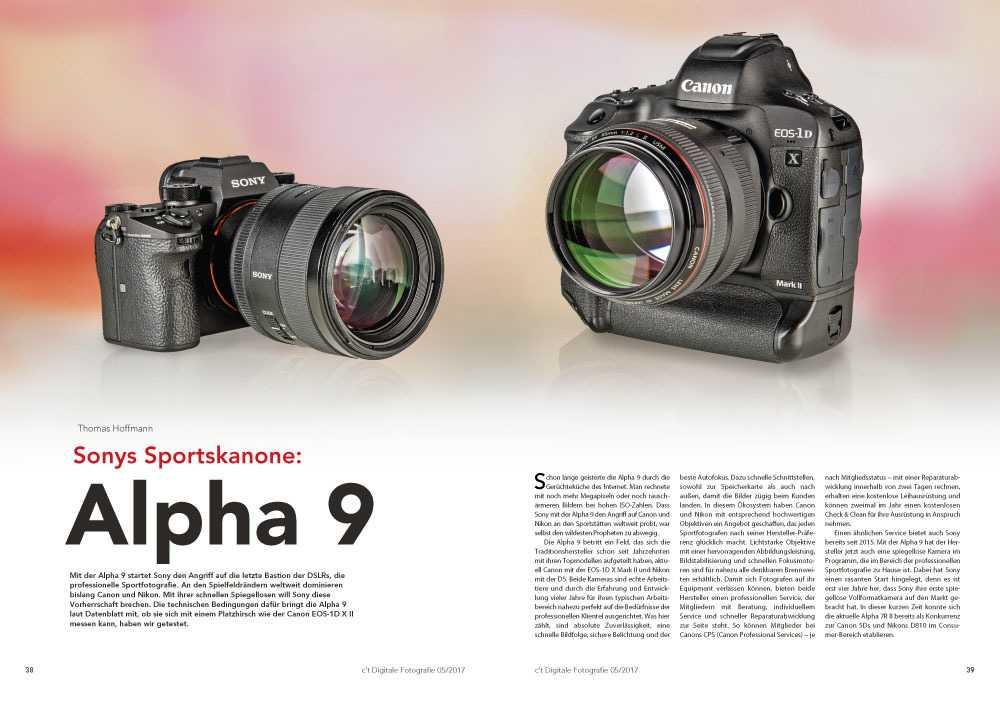 Newcomer gegen Platzhirsch: Wir haben gestestet, ob sich Sonys spiegellose Alpha 9 gegen Canons Eos 1-D X Mark II behaupten kann.
