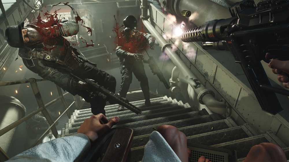 Wolfenstein 2: 1440p60 auf Playstation 4 Pro nach Day-One-Patch, Preload beginnt
