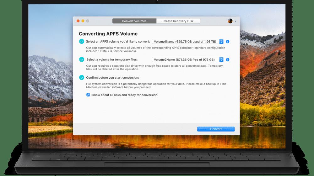 macOS: Tool wandelt APFS-Medien zurück in HFS+ um