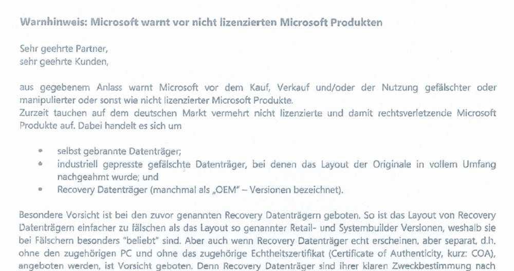Schlappe Fr Microsoft Im Streit Um Handel Mit Gebrauchtsoftware