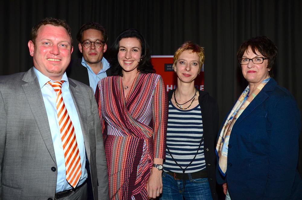 Jimmy Schulz, Konstantin von Notz, Dorothee Bär, Halina Wawzyniak und Brigitte Zypries (.v.l.)