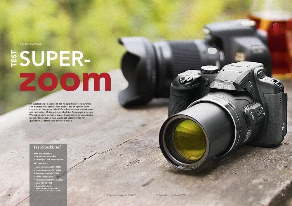 c't Fotografie, Superzoom-Kameras