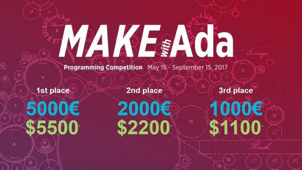 """AdaCore startet zweite Auflage des Programmierwettbewerbs """"Make with Ada"""""""