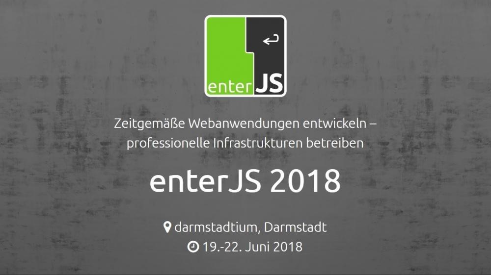 JavaScript: enterJS 2018 Vorverkauf mit vergrößertem Programm gestartet