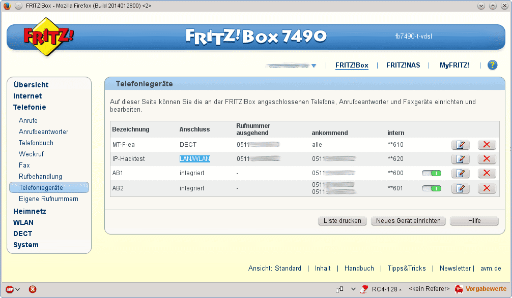 Soft-Phone bei Fritzbox