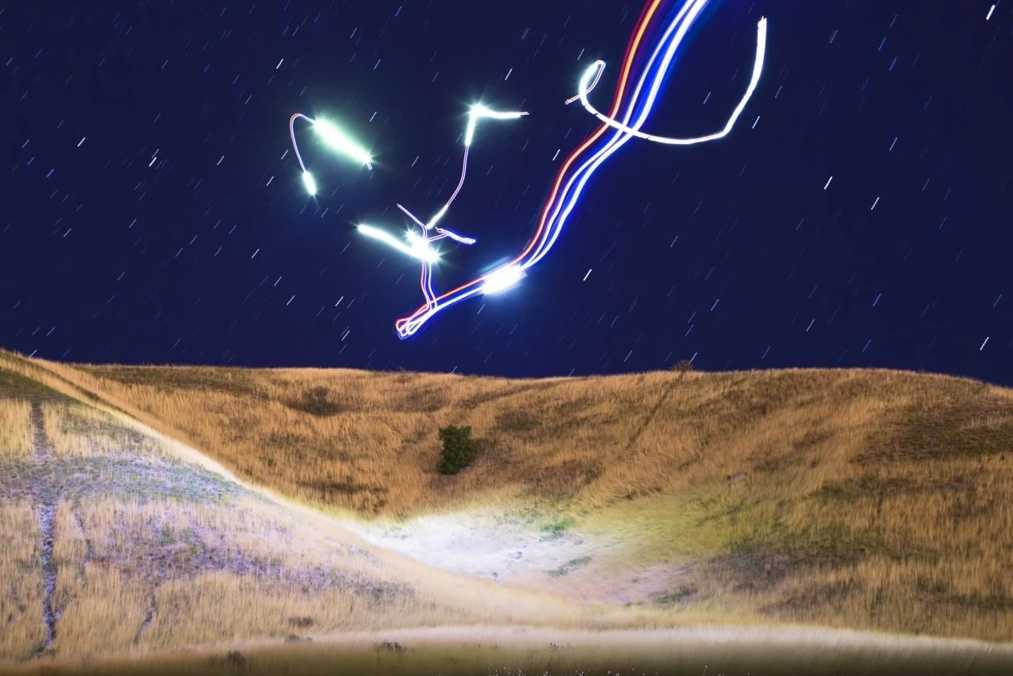 Drohne mit LEDs
