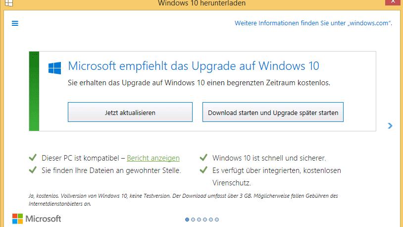Windows 7 auf windows 10 upgraden kostenlos