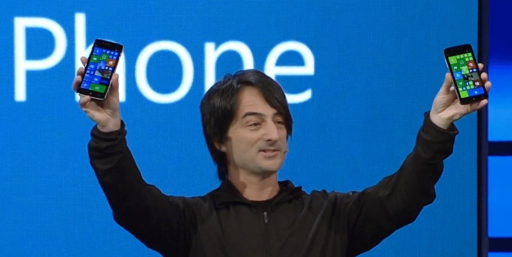 Microsofts Windows-Phone-Chef Joe Belfiore zeigte die Sprachsteuerung und die verbesserte Benachrichtigungsleiste.