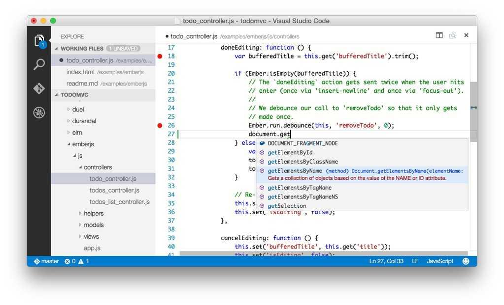 Erste Impression von Visual Studio Code