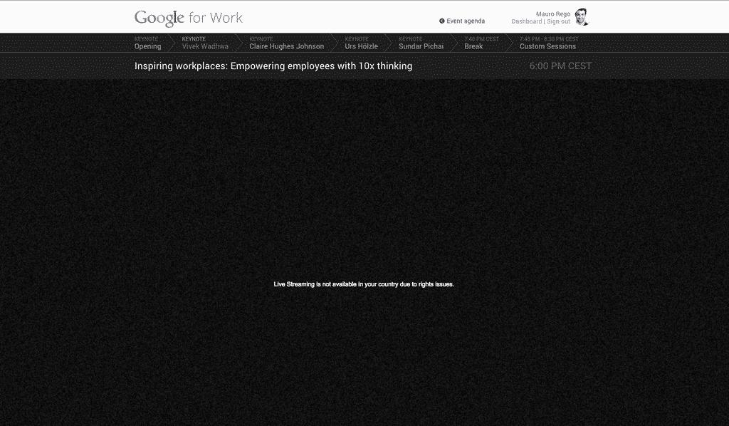 YouTube verweigert Zugriff auf den Stream