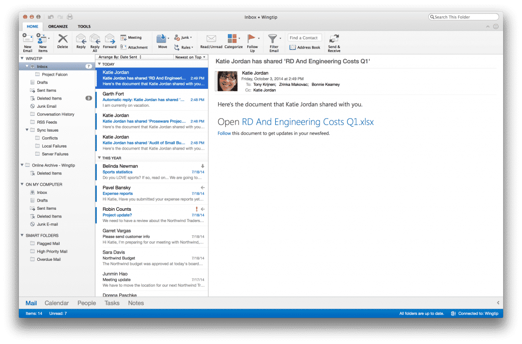 Die neue Outlook-Version für Mac OS X ist bereits erhältlich