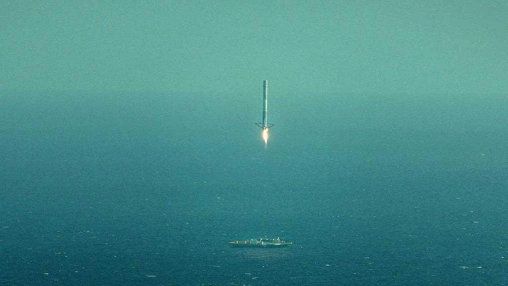 SpaceX Rakete nach Start